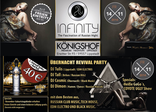 14.11.2014 im Königshof LIPPSTADT  ÜBERNACHT REVIVAL PARTY !!