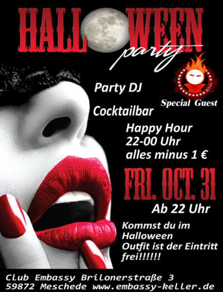 31.10.2014 HALLOWEEN party im Club Embassy !!