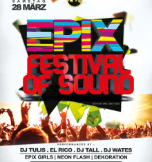 28.03.2015 EPIX FESTIVAL OF SOUND feat. BIRTHDAY PARTY !!!