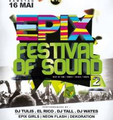 16.05.2015 EPIX – FESTIVAL OF SOUND 2 !!!